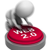 Web 2.0 Pressed Means Website Platform And Type — Stock Photo