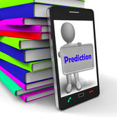 Prediction Phone Shows Estimate Forecast Or Projection — 图库照片