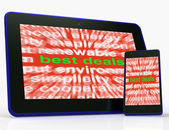 Best Deals Tablet Mean Low Prices Or Amazing Offers — Stock Photo