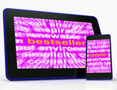 Bestseller Tablet Means Hot Favourite Or Most Popular — Stock Photo