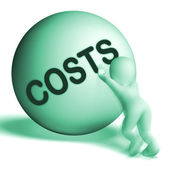 Costs Sphere Means Expenses Price And Outlay — Stock Photo