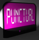 Punctual Digital Clock Shows Timely And On Schedule — Stock Photo