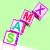 Xmas Word Show Christmas And Festive Season — Stock Photo