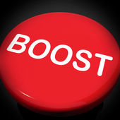 Boost Switch Shows Promote Increase Encourage — Stock Photo