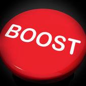 Boost-schalter zeigt fördern erhöhung fördern — Stockfoto