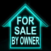 For Sale By Owner Home Means No Commission — Stock Photo