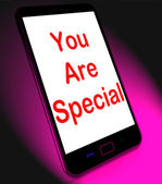 You Are Special On Mobile Means Love Romance Or Idiot — Stock Photo