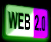 Web 2.0 Sign Means Dynamic User WWW — Stock Photo