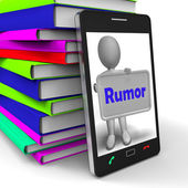 Rumor Phone Means Spreading False Information And Gossip — Stock Photo