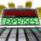 Expenses Calculated Shows Business Expenditure And Bookkeeping — Stock Photo