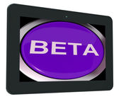 Beta Switch Shows Development Or Demo Version — Stock Photo