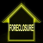 Foreclosure House Home Repossession To Recover Debt — Stock Photo