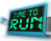 Time To Run Digital Clock Means Under Pressure And Must Leave — Stock Photo