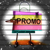 Forty Percent Reduced On Bags Shows 40 Bargains — Stock Photo