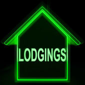 Lodgings Home Means Rooms Accommodation Or Vacancies — Stock Photo