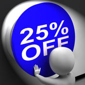 Twenty-Five Percent Off Pressed Shows 25 Price Reduction — Stock Photo