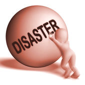 Disaster Uphill Sphere Shows Crisis Trouble Or Calamity — Stock Photo