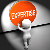 Expertise Pressed Means Skilled Specialist And Proficiency — Stock Photo