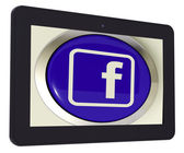 Facebook Tablet Means Connect To Face Book — Stock Photo