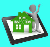 Home Inspection House Tablet Shows Examine Property Close-Up — Stock Photo