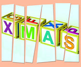 Xmas Letters Show Merry Christmas And Festive Season — Stock Photo