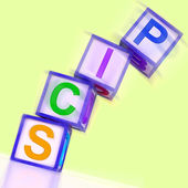Pics Word Show Photos Upload And Sharing — Stock Photo