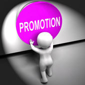 Promotion Pressed Shows New And Higher Role — Stock Photo