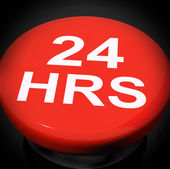 Twenty Four Hours Switch Shows Open 24 hours — Stock Photo