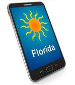 флорида и солнца на мобильные средства большой погоды в саншайн государство — Стоковое фото