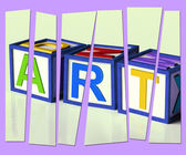 Art Letters Show Inspiration Creativity And Originality — Stock Photo