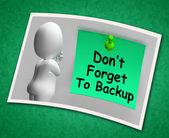 Não se esqueça de foto backup significa fazer backup dos dados — Fotografia Stock