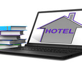 Hotel House Tablet Means Holiday  Accommodation And Vacancies — Stock Photo