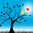 Tree Birds Means Valentine Day And Environment — Stock Photo #48826361