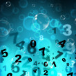 Numbers Mathematics Shows High Tec And Numerical — Stock Photo