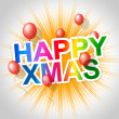 Happy Xmas Means Christmas Greeting And Celebrate — Stock Photo #48827035