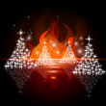 Xmas Tree Indicates Merry Christmas And Blazing — Stock Photo #48827287