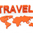 Постер, плакат: Travel World Indicates Worldly Globalization And Touring