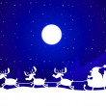 Xmas Reindeer Indicates Father Christmas And Celebration — Stock Photo #48829099
