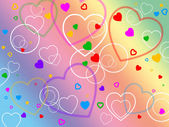Color Heart Shows Valentine Day And Affection — Стоковое фото