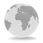 Trade Globe Shows Biz Exporting And Business — Stock Photo