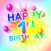 Happy Birthday Represents Congratulation Congratulations And One — Stock Photo