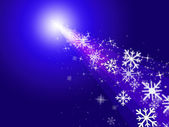 Snowflake Stars Indicates New Year And Congratulation — Stock Photo