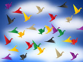 Flying Birds Means Break Out And Elude — Stock Photo
