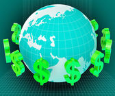 Forex Dollars Shows Exchange Rate And Currency — Stock Photo