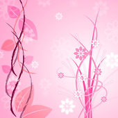 Pink Floral Indicates Bloom Backgrounds And Flower — Stok fotoğraf