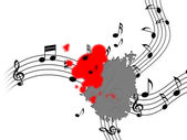 Splat Music Shows Musical Note And Clef — Stock Photo
