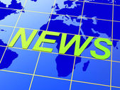News World Means Earth Newsletter And Globalise — Stock Photo