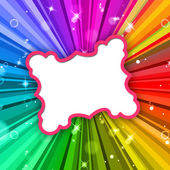 Rays Color Represents Frame Colour And Radiate — Stock Photo