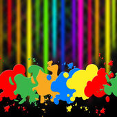 Splash Background Indicates Paint Colors And Splattered — Stock Photo