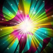 Background Sunrays Shows Radiate Sunlight And Multicoloured — Stock Photo